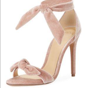 Alexandre Birman pink velvet clarita sandal